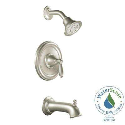 Brantford Single-Handle 1-Spray Posi-Temp Tub and Shower Faucet Trim Kit in Brushed Nickel (Valve Not Included)