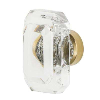 Baguette Cut Crystal 1-3/4 in. Cabinet Knob in Polished Brass
