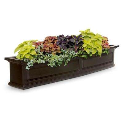5 ft. Espresso Nantucket Polyethylene Window Box