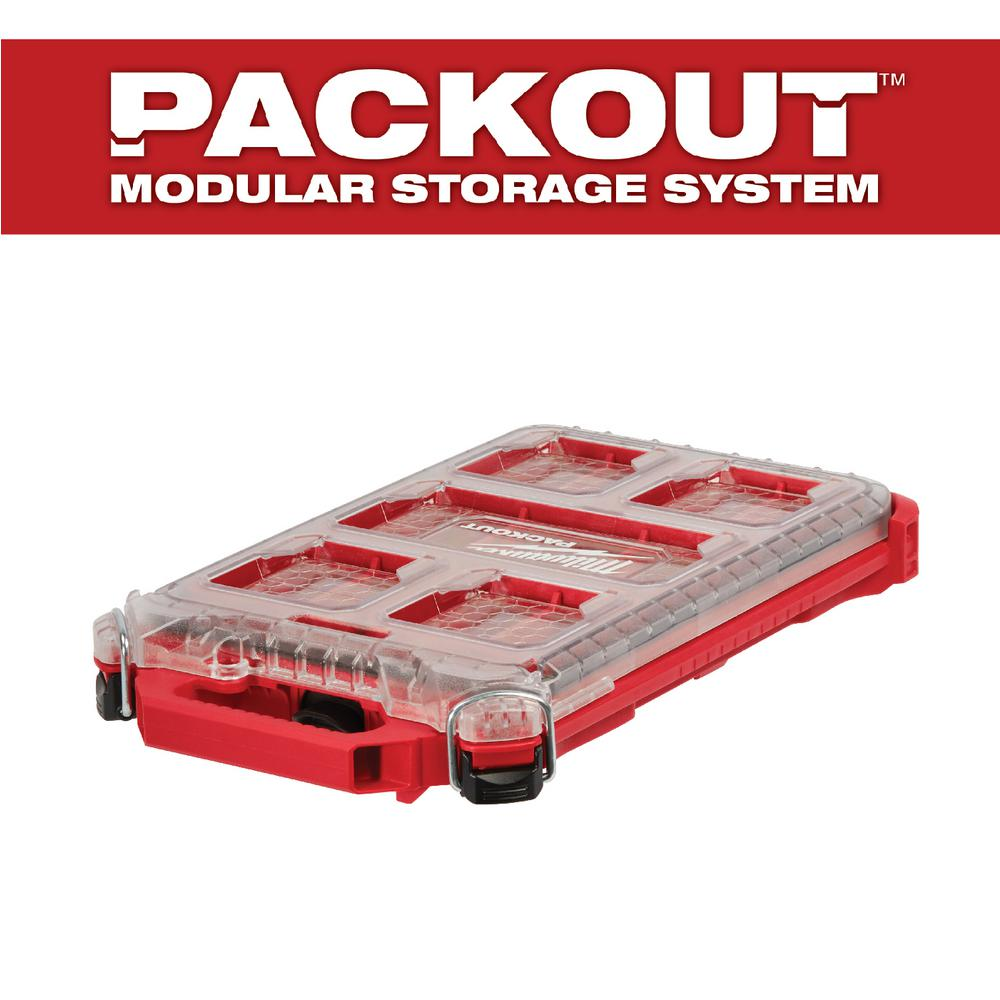 Small Parts Storage Organizer 5-Compartment Low-Profile Compact Lightweight NEW