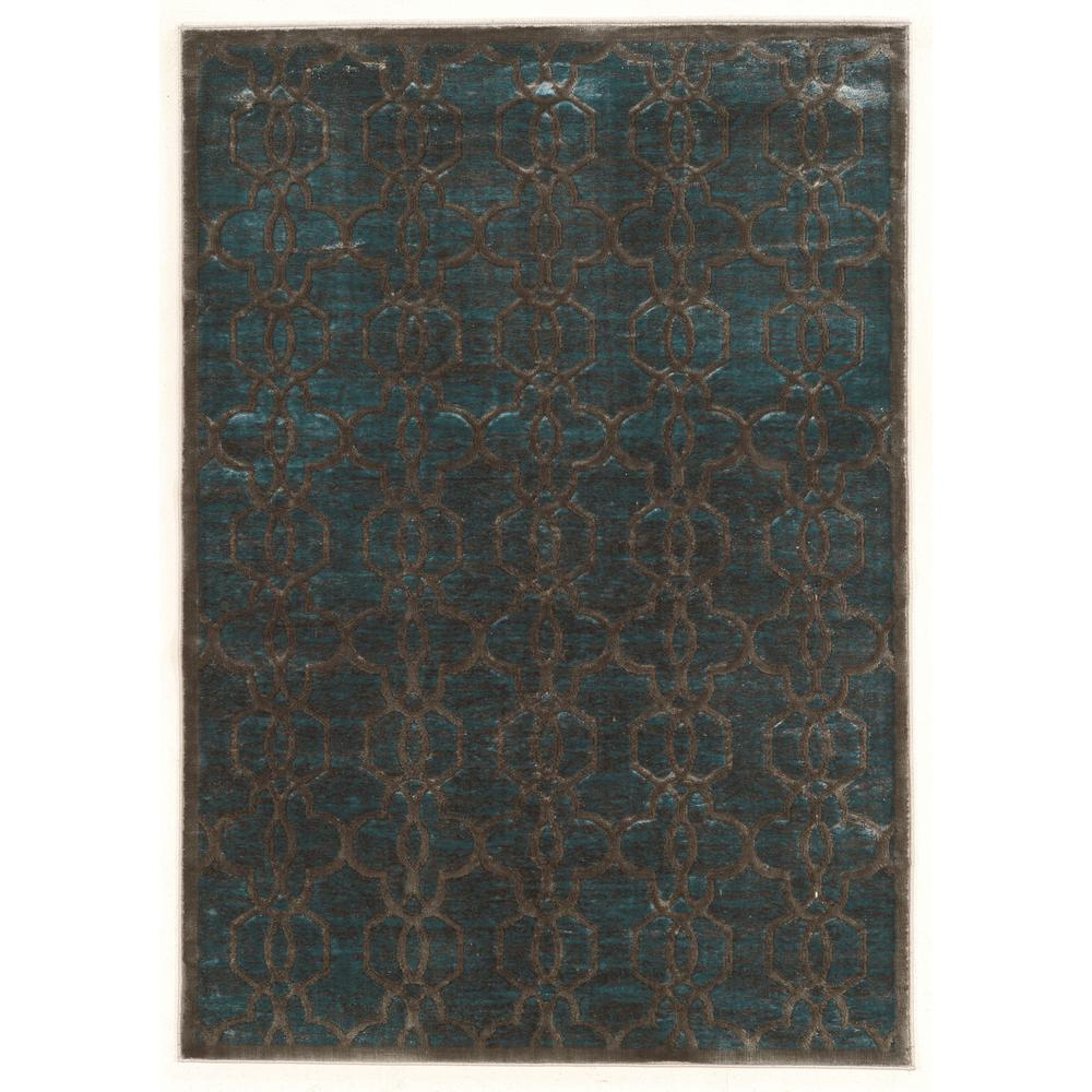 Nice Linon Home Decor Platinum Iron Gate Blue And Cream 2 Ft. X 3 Ft.