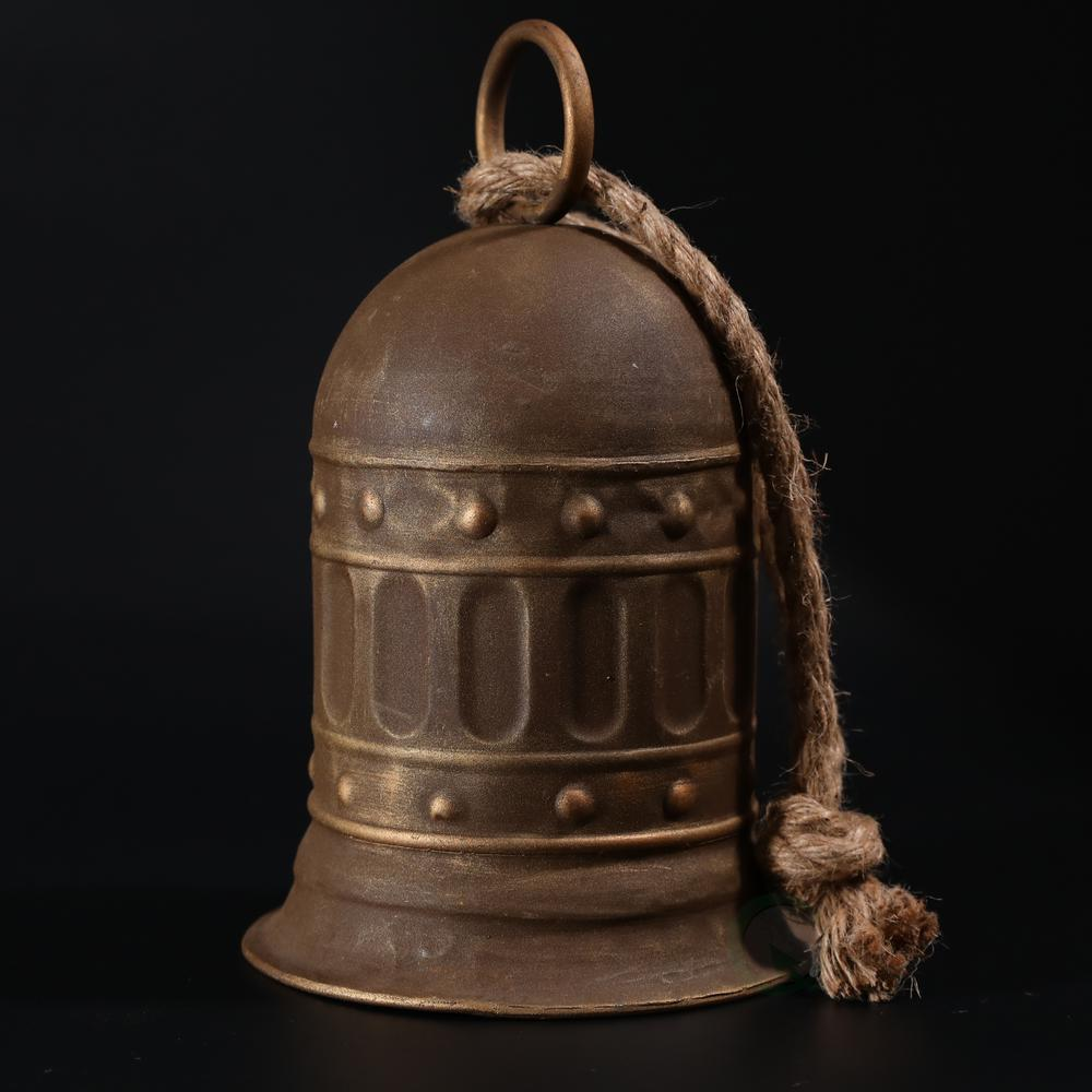 Antique Style Large Decorative Metal Bell For Garden And Home Decor