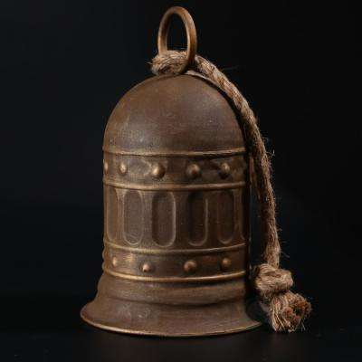 7 in. Antique Style Large Decorative Metal Bell for Garden and Home Decor