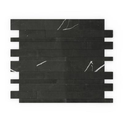 Take Home Sample - Onyxia Black 4 in. x 4 in. Stone Peel and Stick Wall Mosaic Tile (0.11 sq. ft./Each)