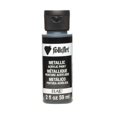 2 oz. Sequin Black Metallic Craft Paint