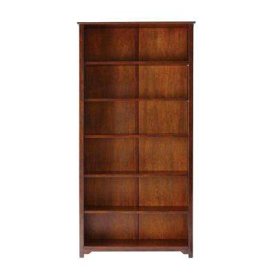 "Oxford Chestnut 36"" W 6 Shelf Open Bookcase"