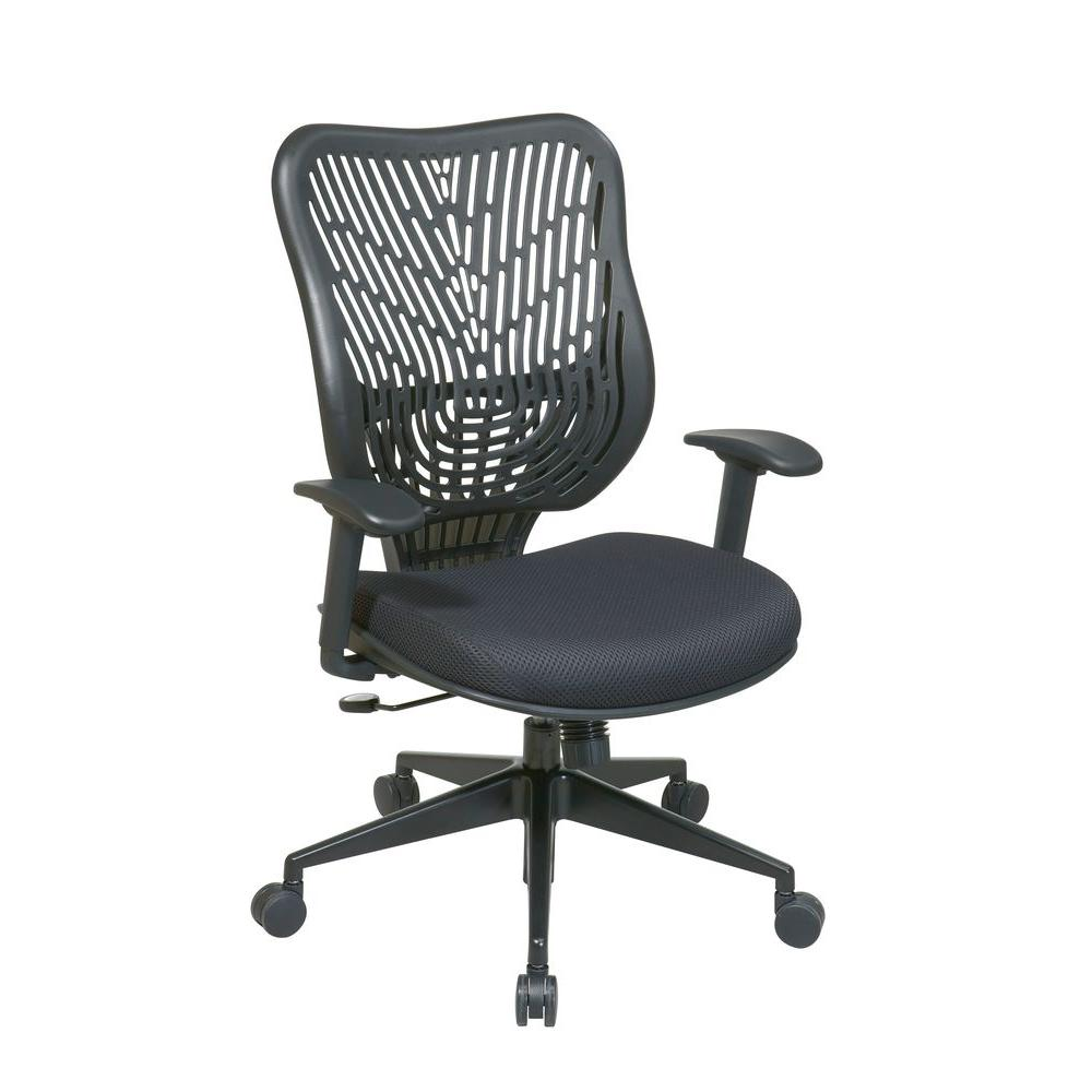 Space Seating Epic Black Self Adjusting Manager Office Chair