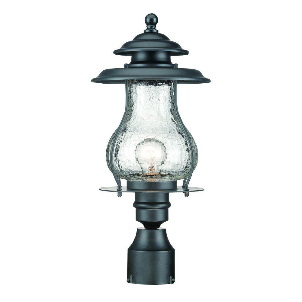 Blue Ridge 1-Light Matte Black Outdoor Post Mount Light Fixture