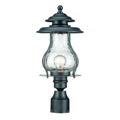 Blue Ridge 1-Light Matte Black Outdoor Post Mount Light Fixture