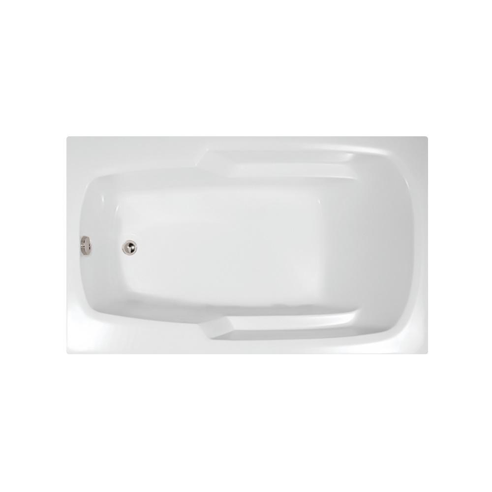 Napa 60 in. Acrylic Rectangular Reversible Drain Drop in Bathtub in