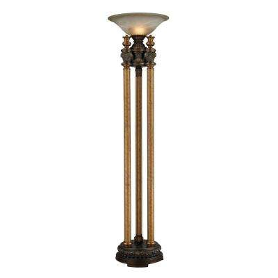 Athena Torchiere 72 in. Athena Bronze Floor Lamp