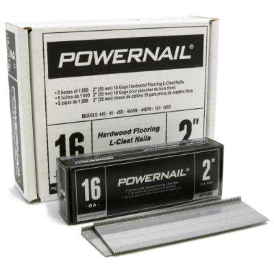 2 in. 16-Gauge Powercleats Hardwood Flooring Nails 5 (1000-Box)