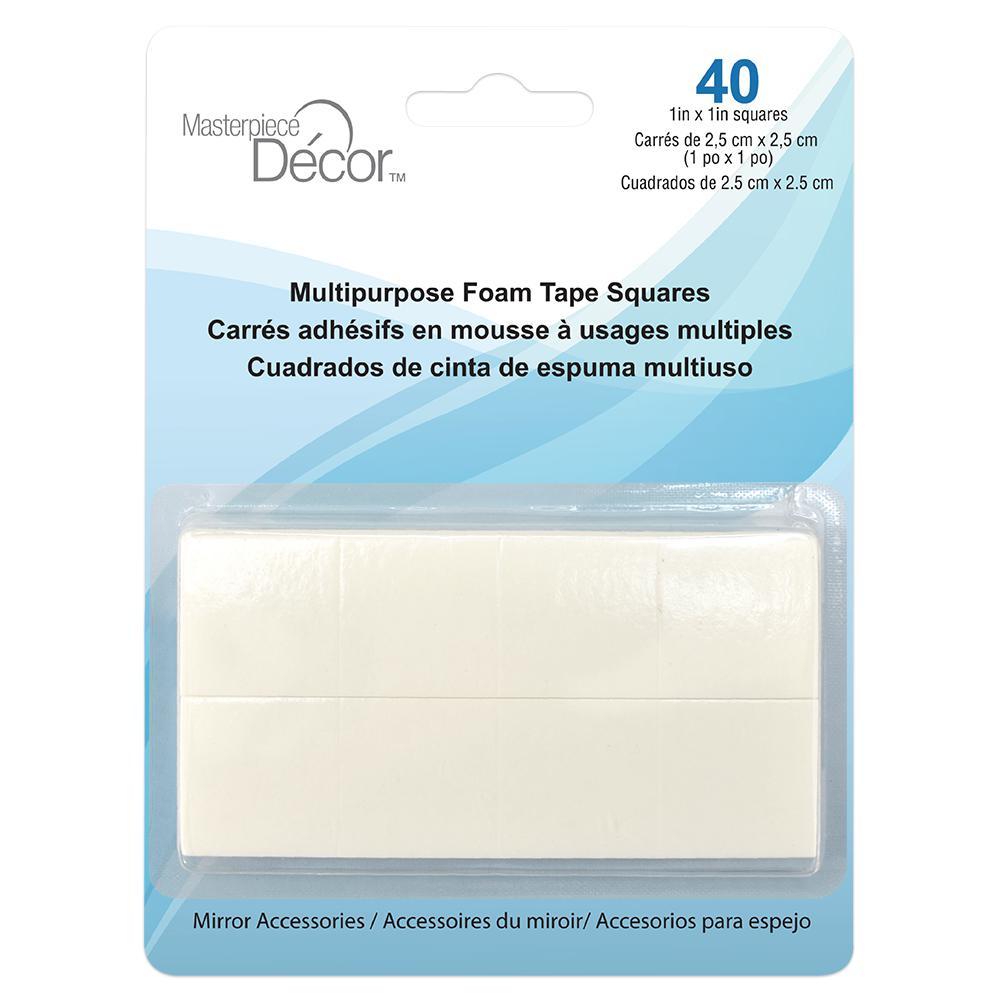 Multipurpose Foam Tape Squares (40-Pack)