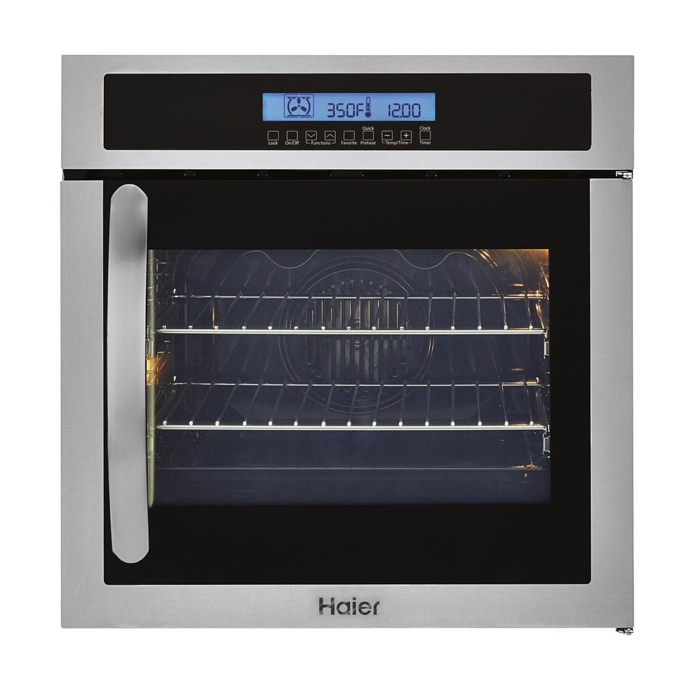 24 in. Single Electric Right-Swing Door Wall Oven with Convection in