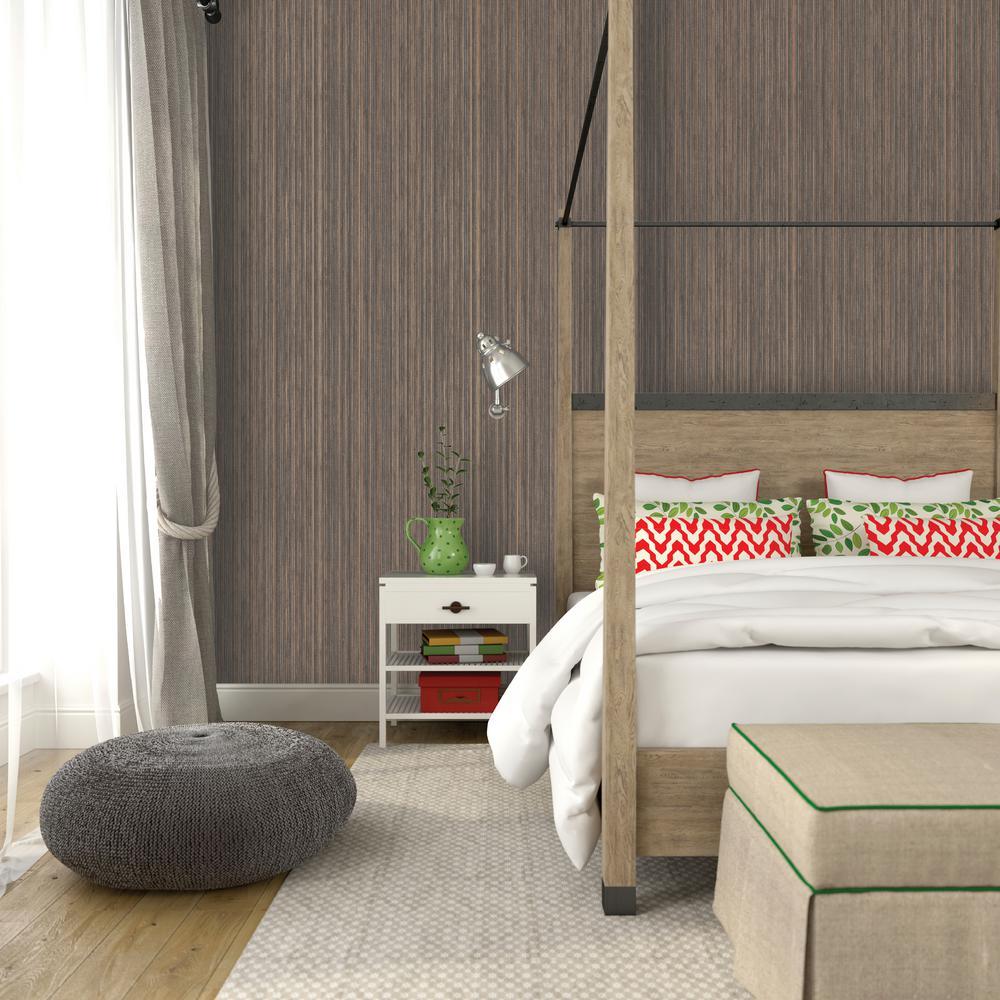 Bronze Grasscloth Wallpaper