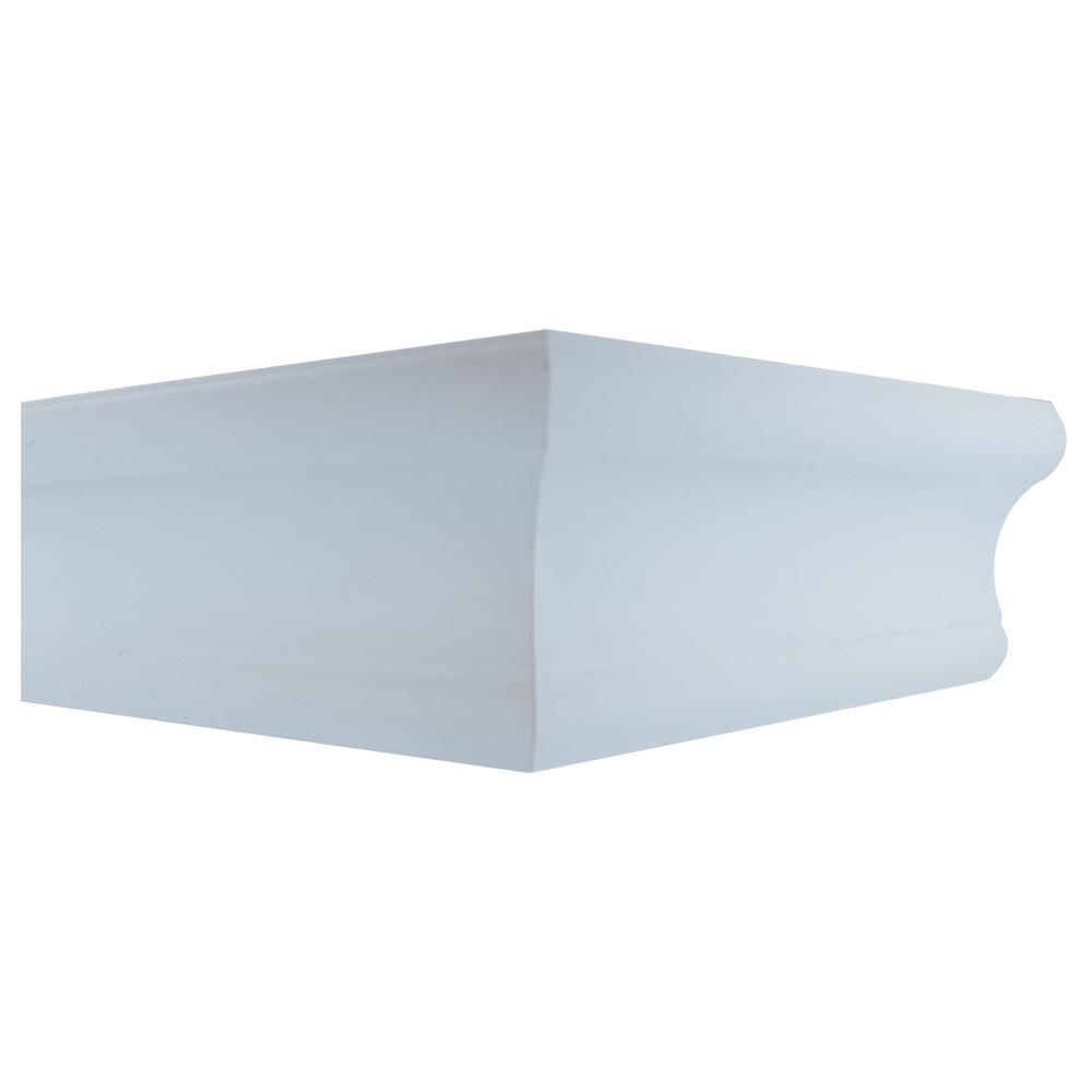 18 in. White Tool Free Floating Shelf
