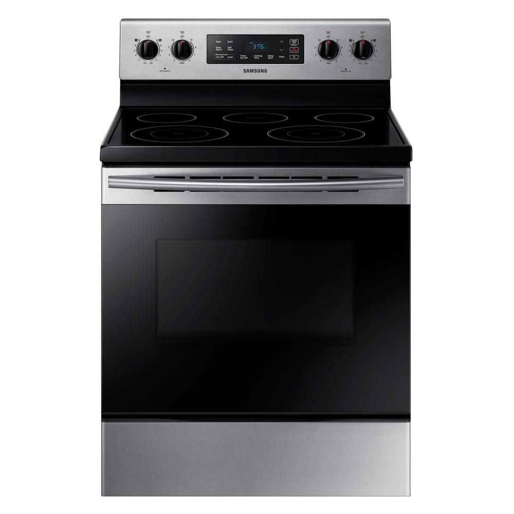 Samsung 5 9 cu ft freestanding electric range with self How to clean top of oven