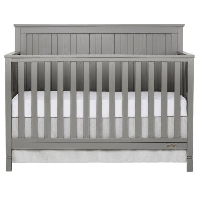 Alexa Storm Grey 5-in-1 Convertible Crib