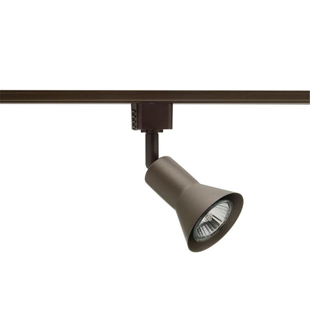 Flare GU10 Bronze Track Lighting Head