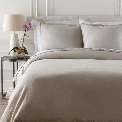 Sonja Light Gray Full/Queen Duvet Set