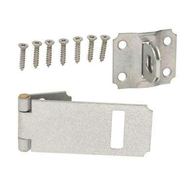 4-1/2 in. Galvanized Adjustable Staple Safety Hasp