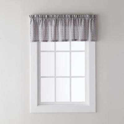 Hopscotch 58 in. W x 13 In. L PolyCotton Blend Valance in Gray