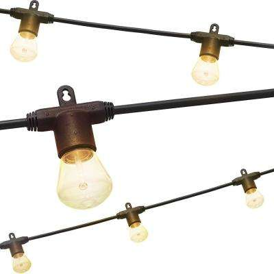 48 ft. Black Integrated LED Bistro String Light