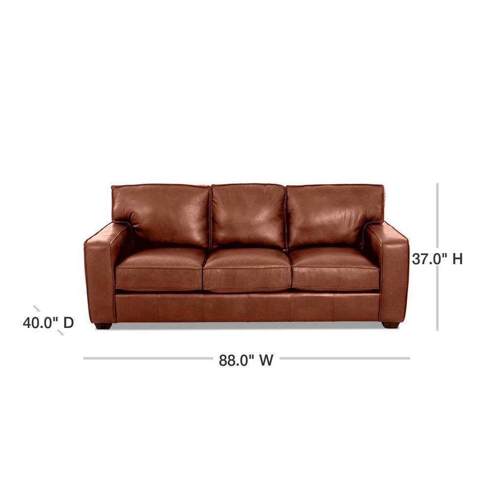 Drake Leather Down Blend Sofa