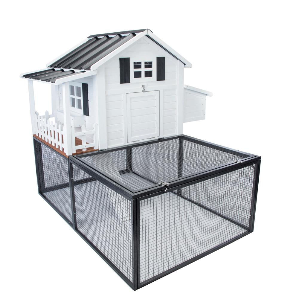 SummerHawk Ranch Southern Charm Chicken Coop with 20 sq. ft. Metal ...
