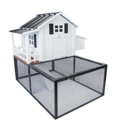Southern Charm Chicken Coop with 20 sq. ft. Metal Pen