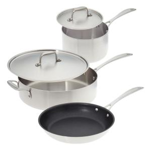 American Kitchen Make Enough For Leftovers 5-Piece Stainless Steel Cookware Set by American Kitchen
