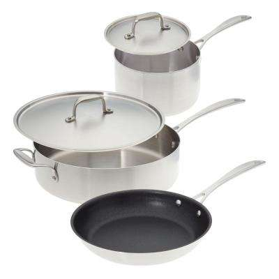 Make Enough For Leftovers 5-Piece Stainless Steel Cookware Set