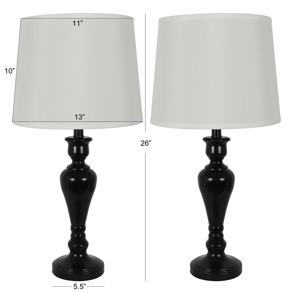 Decor Therapy Marie 26 in. Bronze Table Lamp Set with Shade