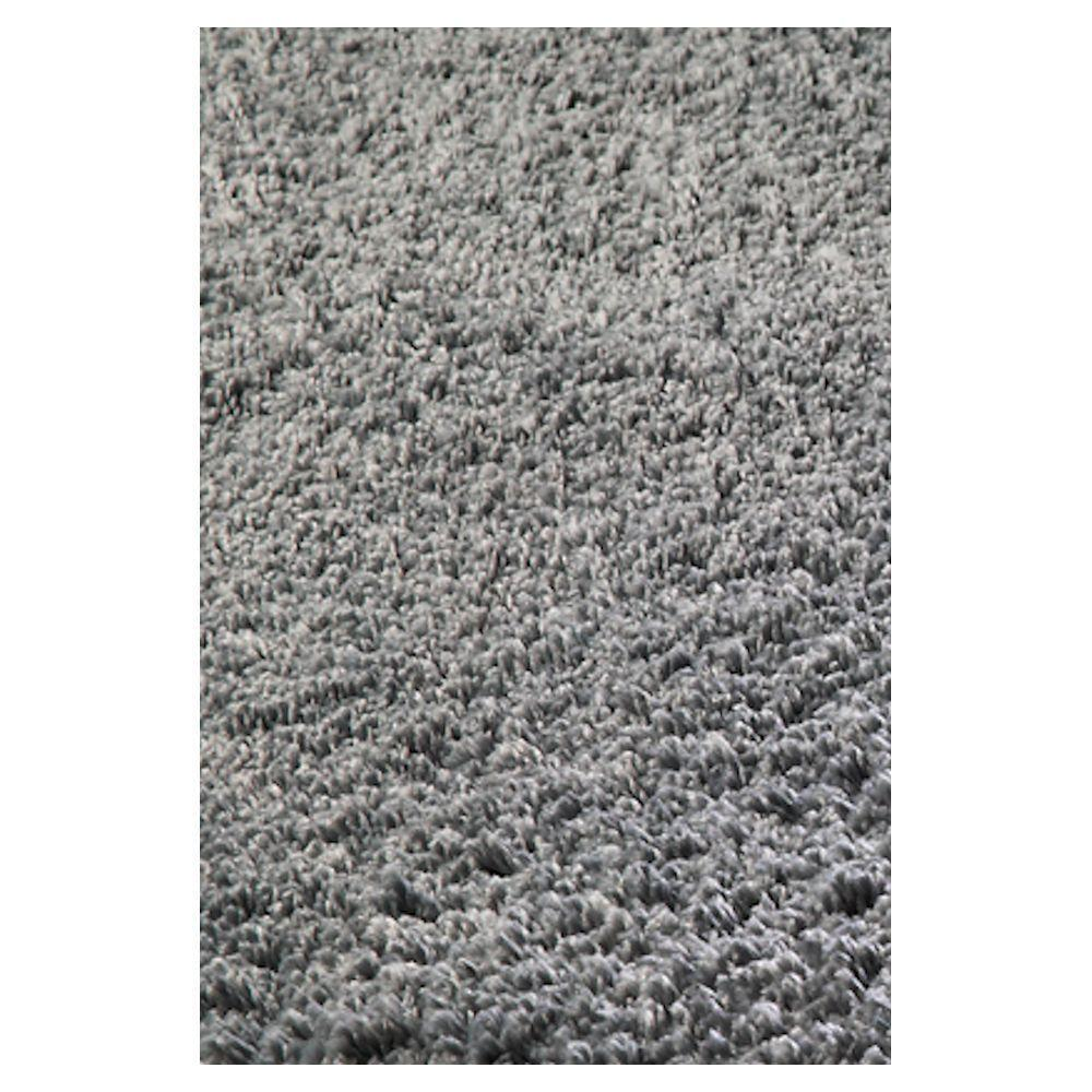 Kas Rugs Cushy Shag Grey 7 ft. 6 in. x 9 ft. 6 in. Area Rug
