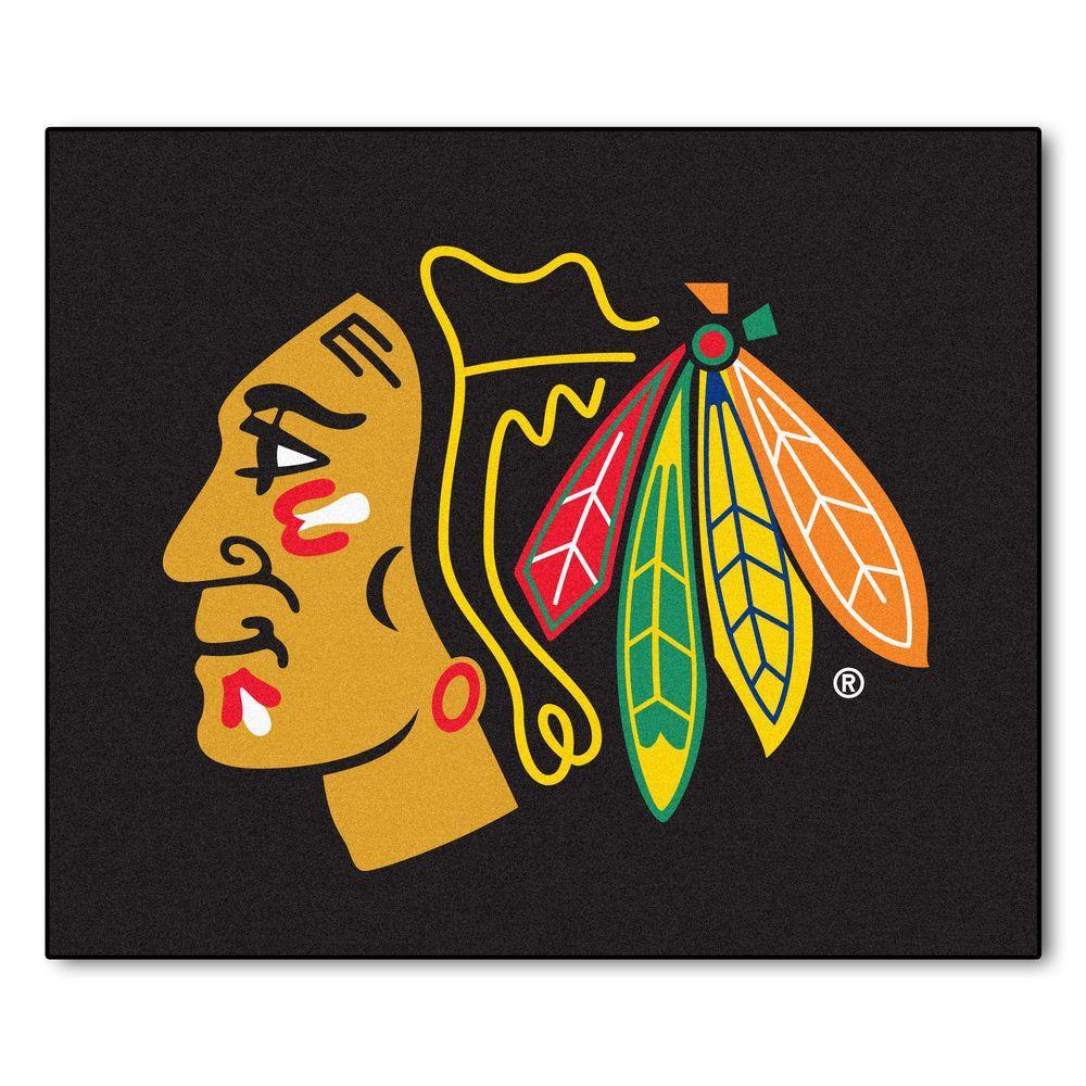 Chicago Blackhawks 5 ft. x 6 ft. Tailgater Rug