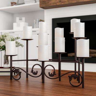 10 Candle Candelabra with Front Scroll