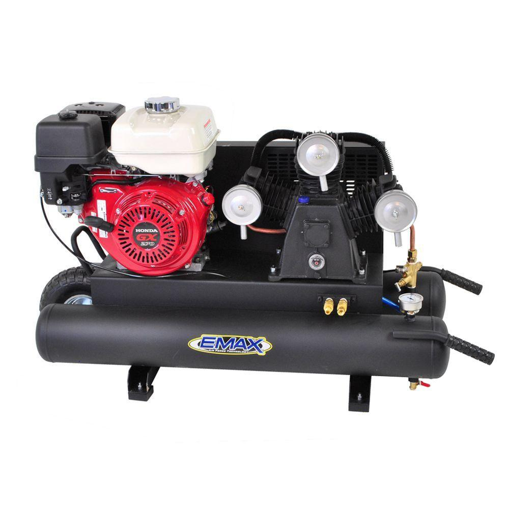 65 hp 4cycle portable gas wheelbarrow air compressor with honda gas powered recoil start engine 148 the home depot
