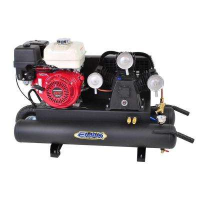 10 Gal. 6.5 HP 4-Cycle Portable Gas Wheelbarrow Air Compressor with Honda Gas Powered Recoil Start Engine, 14.8 SCFM