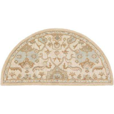 Matthias Ivory 2 ft. x 4 ft. Hearth Indoor Area Rug