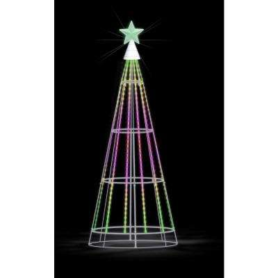 66 in. Show Tree with Multi-Color LED Lights