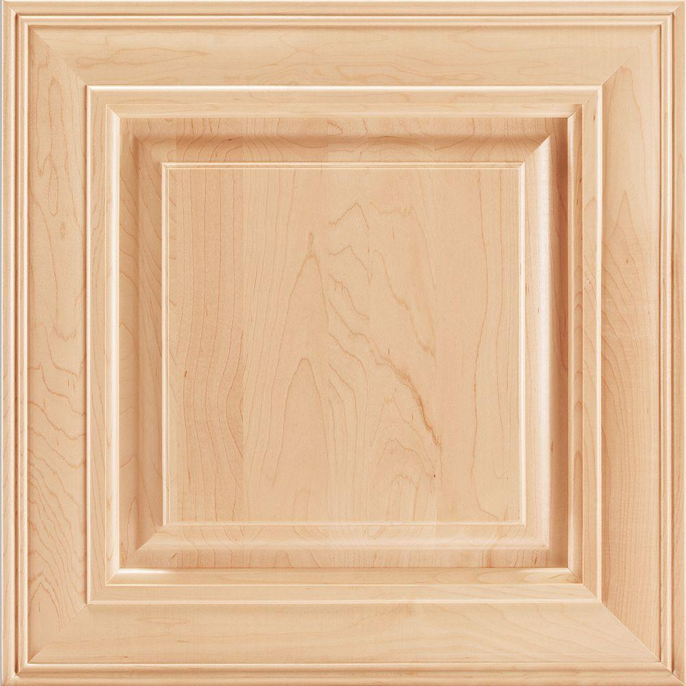 American Woodmark 14-9/16x14-1/2 in. Savannah Maple Cabinet Door Sample in Natural