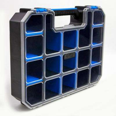 17-Compartment PRO-GO Divided Small Parts Organizer, Blue