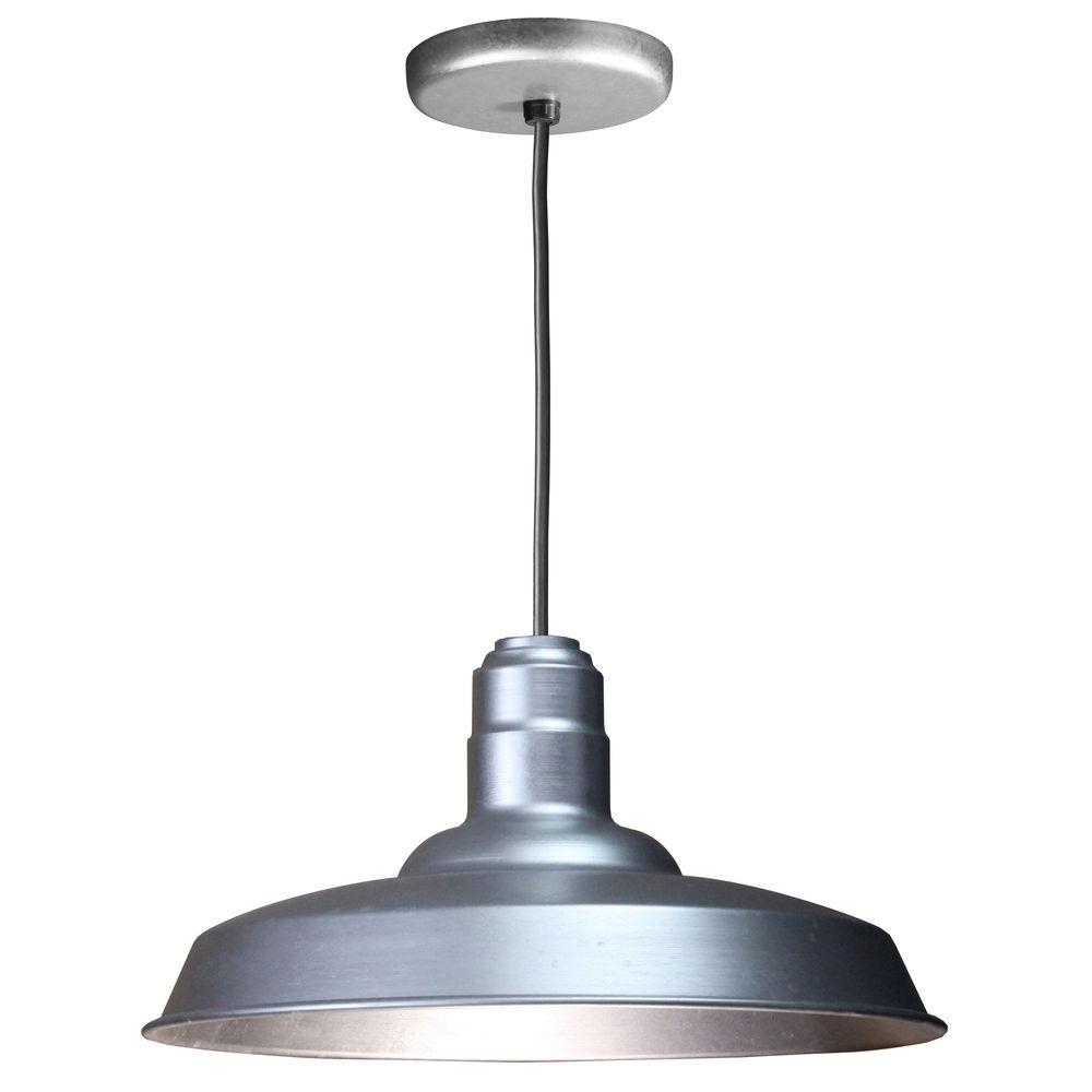 Illumine 1 light ceiling galvanized fluorescent pendant cli 475 illumine 1 light ceiling galvanized fluorescent pendant aloadofball Images