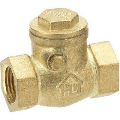 3/4 in. Brass FIP x FIP Swing Check Valve