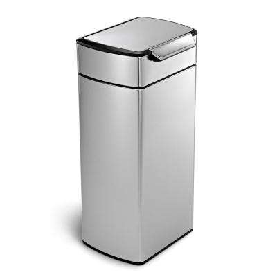 30-Liter Fingerprint-Proof Brushed Stainless Steel Touch Bar Trash Can
