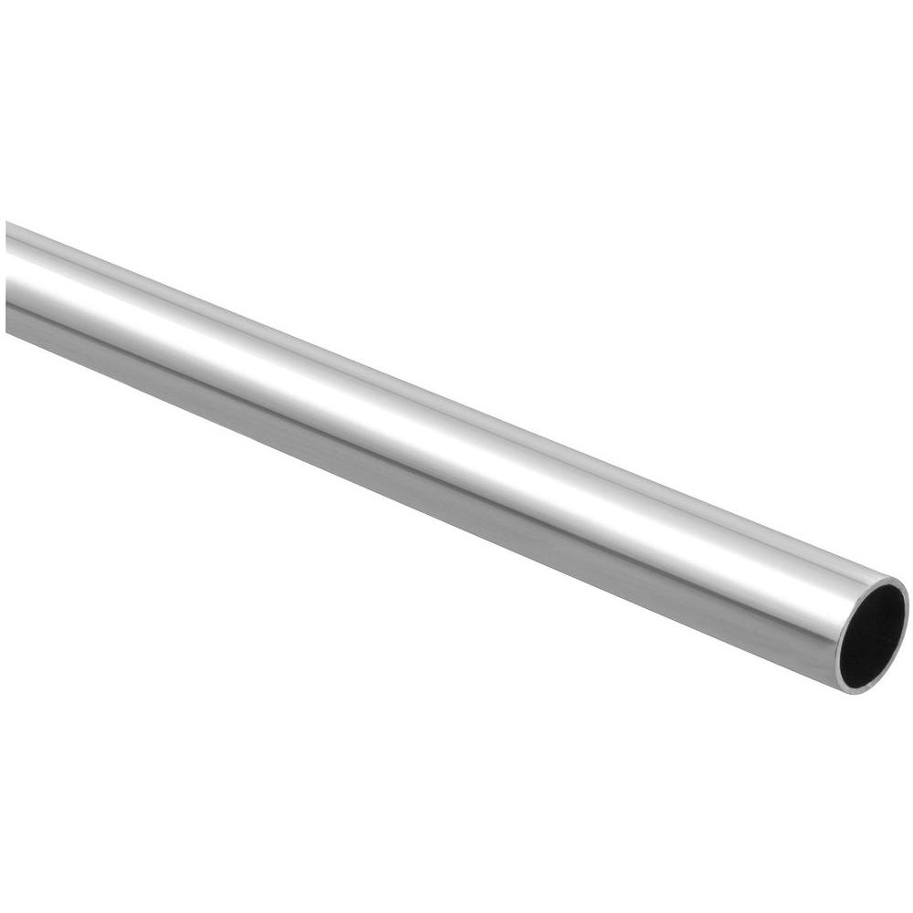 Attractive Stanley National Hardware 6 Ft. Chrome Closet Rod In Polished Chrome