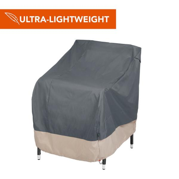 Renaissance Ultralite Water Resistant Outdoor Patio Chair Cover, 27 in. W x 34 in. D x 31 in. H, Gray