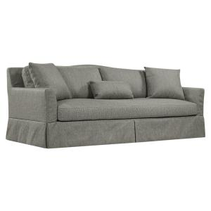 Deals on Sandy Skirted 92.3 in Granite Gray Polyester 3-Seater Sofa