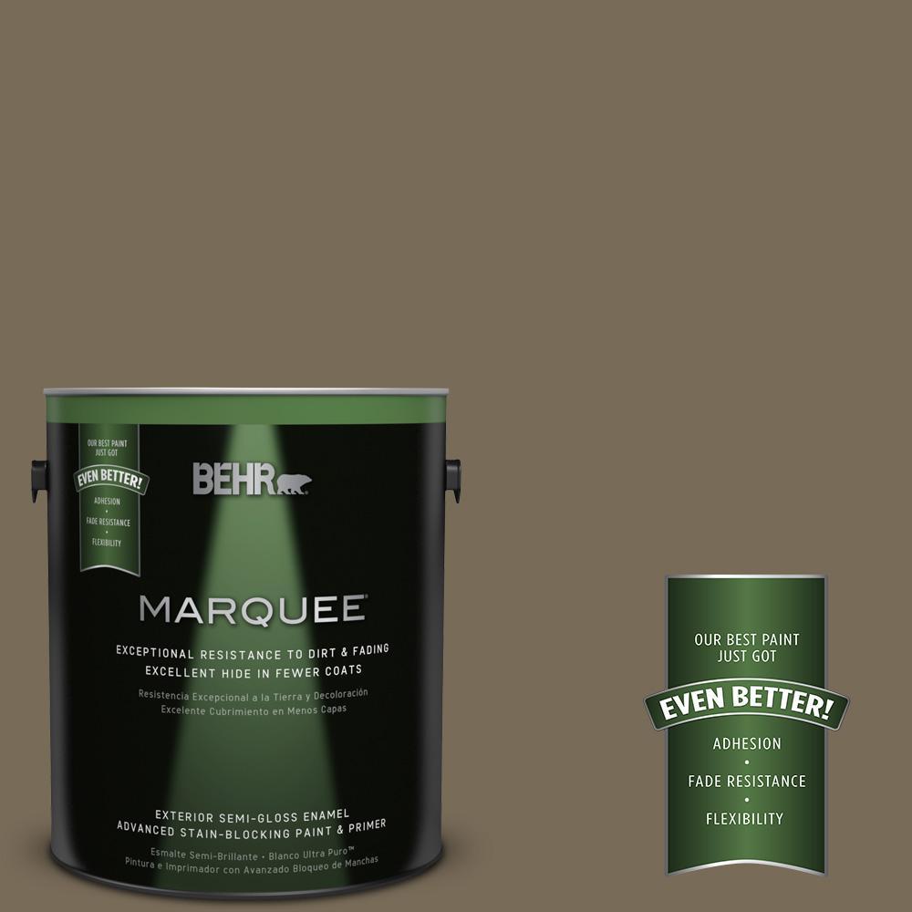 1-gal. #730D-6 Coconut Husk Semi-Gloss Enamel Exterior Paint