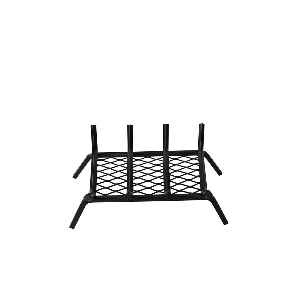 18 In Steel Bar Fireplace Grate With Ember Retainer H111 A The